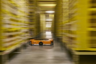 Automated transport robots are becoming more commonplace in warehouses.