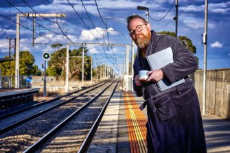 Chris has been taking  the train into the city every day for the past 20 years and now works from home. He misses the commute a little because of the time alone but sees the positives of having more free time.