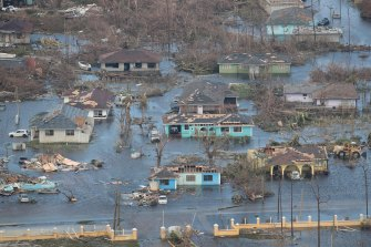 On Great Abaco Island communities were swamped by water.