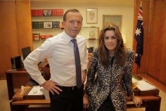 Peta Credlin and former prime minster  Tony Abbott.