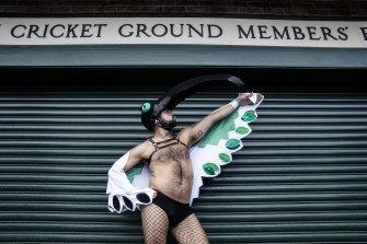 "The iconic Australian ""bin chicken"" was represented at Mardi Gras."