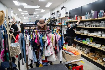 Vinnies in Coogee reopened for business on Monday.