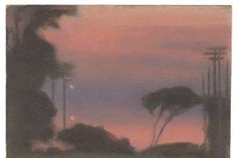 Clarice Beckett, Evening landscape, c 1925
