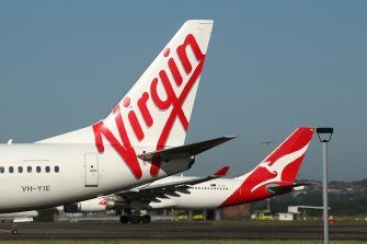 A reduction of as much as 90 per cent of air travel by Qantas in coming months and a similar retreat by Virgin Australia will alone lop a million tonnes off the national greenhouse gas emissions tally.