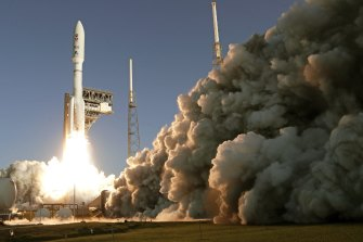 The Mars mission rocket lifting off from Cape Canaveral on Thursday.