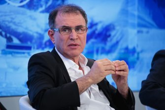 """Economist Nouriel Roubini says the world is in a """"debt trap""""."""