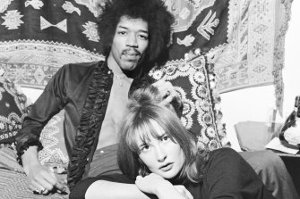 """To me, when he walked in the room, he was just Jimi"": Kathy Etchingham with Jimi Hendrix in 1969."