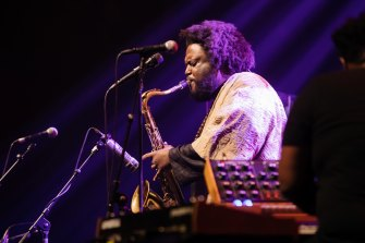 Kamasi Washington in action.
