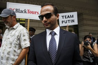 George Papadopoulos, former campaign adviser for US President Donald Trump, in federal court in September 2018.