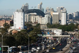 Two buses have crashed on the Sydney Harbour Bridge, causing traffic delays in both directions.