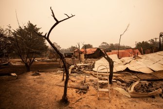 Scenes from Mallacoota after the Gippsland bushfires.
