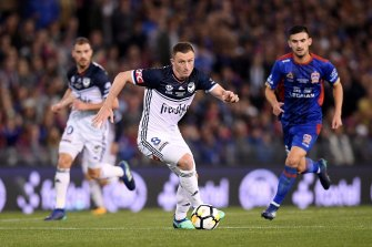 Besart Berisha in action for Victory in the 2018 A-League grand final.
