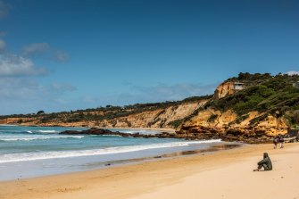 The coastal town of Anglesea on the Great Ocean Road.