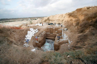 The cement quarry at Nesher Ramla, Israel, now a human ancestor excavation site.