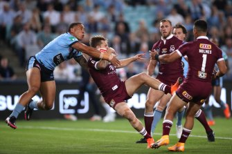 Cameron Munster lasted barely two minutes at ANZ Stadium and Queensland could be forced to play an Origin decider without one of their biggest names.