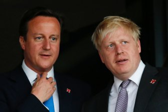 David Cameron, left, and Boris Johnson, pictured in 2012.
