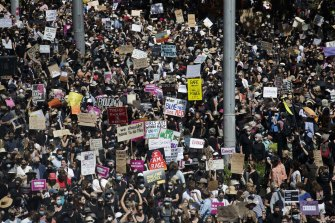 The Sydney March 4 Justice rally attracted several thousand.