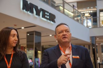 Myer CEO John King blames lockdown uncertainty for the withheld dividend.