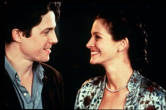 Hugh Grant and Julia Roberts, pictured in Notting Hill, are both  romcom classics.