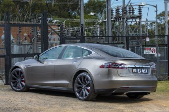Tesla's Model S door handles do not extend out of the door unless automatically activated.