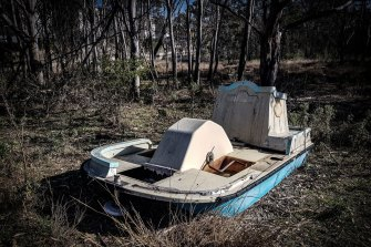 Funland at Warragamba Dam is now in total rusty disrepair.