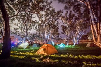 Protesters camped out to protect the Djab Wurrung trees.