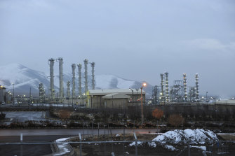 The heavy water nuclear facility near Arak, 250 kilometres south-west of Tehran.