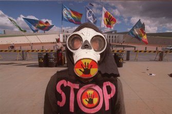 Kakadu was the centre of massive anti-uranium protests in 1998.