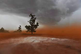 Severe storms are tearing up topsoil and creating dust storms in the Riverina and western NSW.