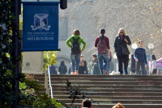 Just over 50 per cent of students at the University of Melbourne reported they were happy with their education experience in 2020, according the federal government's annual Student  Experience Survey.