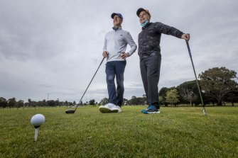 Golfers at Albert Park Golf club as restrictions lifted last month.