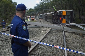 Seven people were killed and dozens were injured when a Tangara train derailed near Waterfall station, south of Sydney, in 2003.