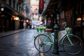 An eerie air pervades Melbourne's empty streets.