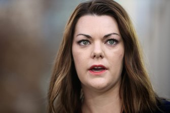 Sarah Hanson-Young has known Rebekah Giles for a decade and first met her at global law firm Kennedys, where Giles worked for 14 years.