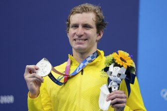 Jack McLoughlin with his silver medal.