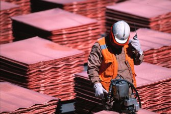 BHP runs the world's largest copper mine, Escondida, in Chile's Atacama desert.