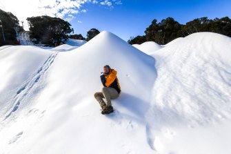 Victorian ski resorts such as Mount Baw Baw can accept visitors from Melbourne this weekend.