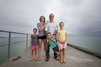 James Merlino with his wife Meagan and their children Emma, Josh and Sophie.