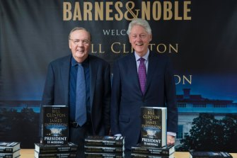 """Former president Bill Clinton, right, and author James Patterson are returning after the success of their collaboration, """"The President is Missing""""."""