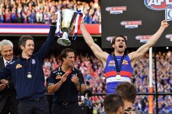 The premiership dais in 2016.