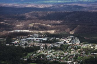 A long road to recovery: Part of the NSW South Coast that suffered from the 2019-20 bushfires.