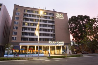 The Four Points by Sheraton Hotel in Perth, where the security guard contracted COVID-19.
