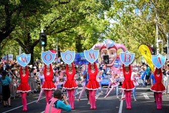 The Moomba parade in 2017.