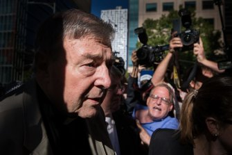 Walkley-winning photo: Cardinal George Pell outside the Melbourne County Court.