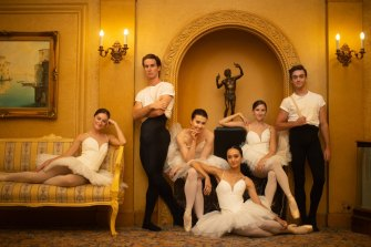 This year's Telstra Ballet Dancer Awards nominees included, from  left to right, Imogen Chapman, Nathan Brook, Serena Graham, Jasmin Durham, Corey Herbert and Cameron Holmes.