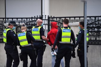 Police detained then released a man near the George Andrews Reserve in  Dandenong last week.