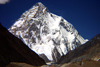 The world's second-highest peak, K2, seen from northern Pakistan.