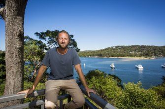 Justin Hemmes on the deck of the old Newport Arms, where he has opened a refurbished pub and an upmarket restaurant, Bert's.