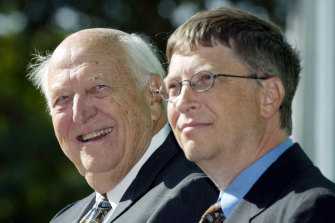 """""""Without me, you wouldn't even be here"""", Bill Gates snr once told his billionaire son."""