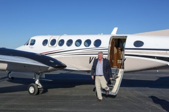 John Wagner on the airport his family built on their property in Toowoomba. photo Jarrayd Apelt 23rd July 2014